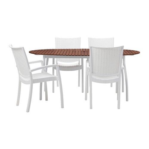 VINDALSÖ / INNAMO Table+4 chairs w armrests, outdoor IKEA