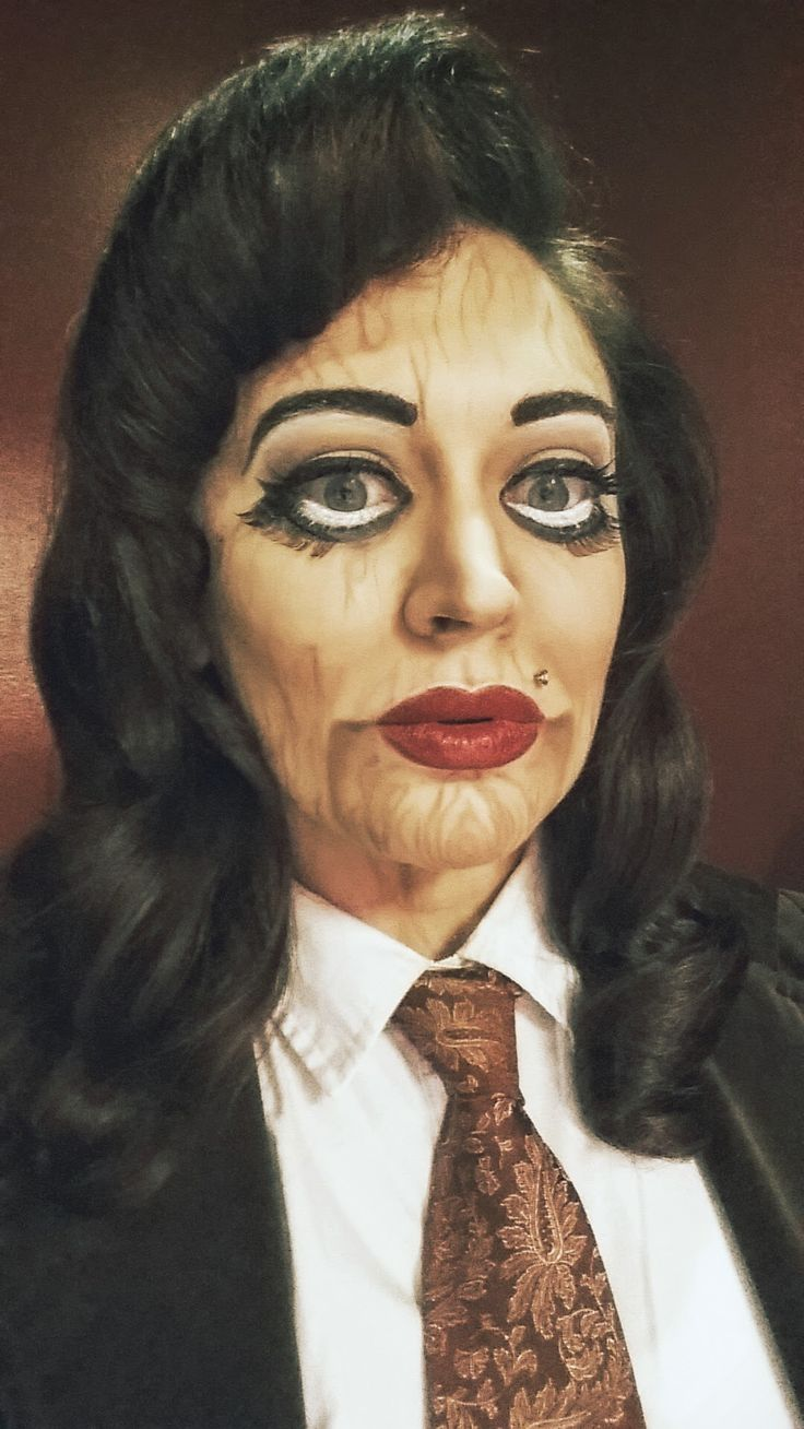 halloween 2014 wooden ventriloquist doll makeup done by me on me jessica - Where Can I Get Halloween Makeup Done