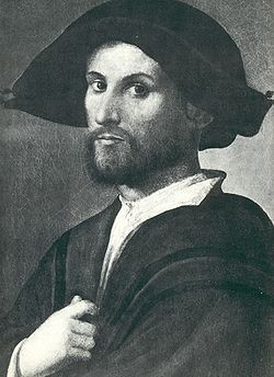 Giovanni Borgia, II Duke of Gandía (1475–1497) was the son of Pope Alexander VI and the brother of Cesare Borgia, Gioffre Borgia, and Lucrezia Borgia. Giovanni, also known as Juan or Joan, was the eldest of the Popes four children by Vannozza dei Cattanei.[2][3] Due to a number of papal bulls issued after his murder, it is unclear whether Giovanni was born in 1476 or 1477, but it was long thought that he was the eldest son instead of Cesare.
