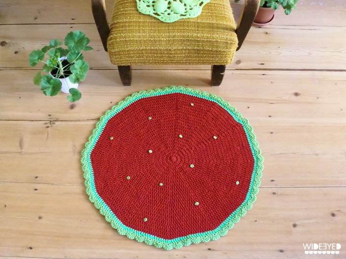 Teppich | gehäkelt | Strawberry fields
