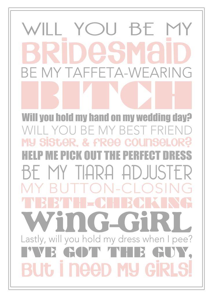 30 best Bridesmaids images on Pinterest Bridesmaid ideas