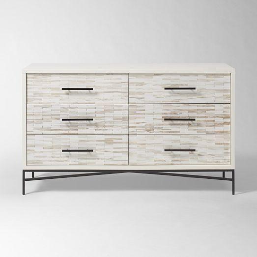 Wood Tiled 6-Drawer Dresser | west elm