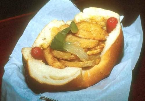 -style Italian hot dog. Unique to NJ, especially north/central jersey ...