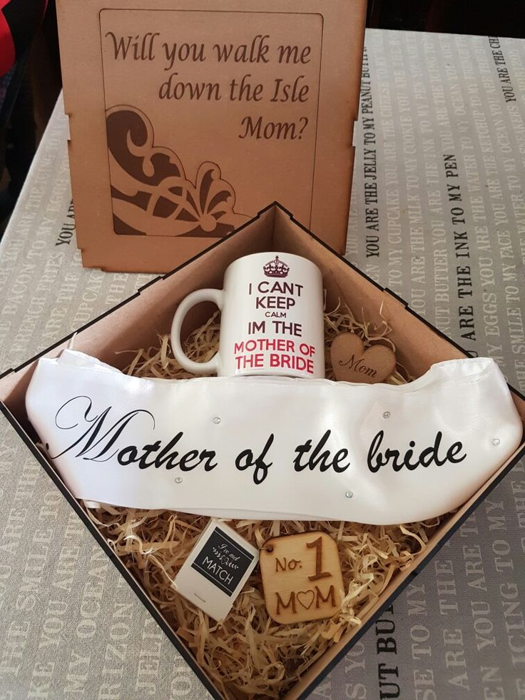 gift I gave my mom to ask her to walk me down the Isle.