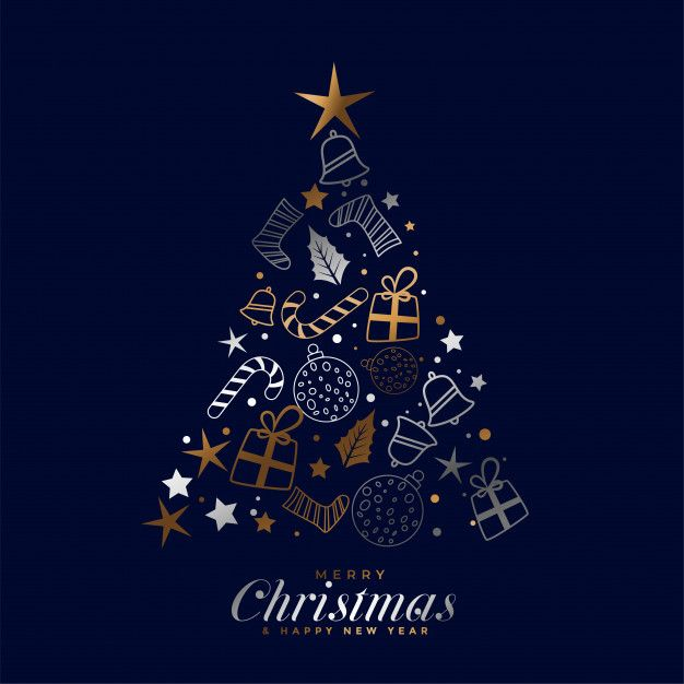 Download Creative Merry Christmas Festival Card With Decorative