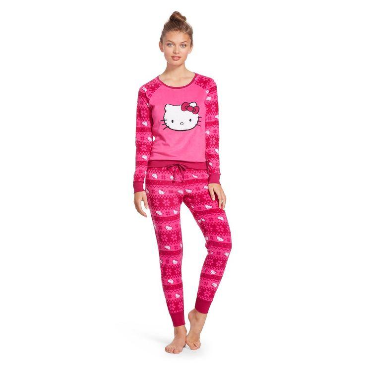 Women's Pajama Jogger Set - Fairisle Hello Kitty