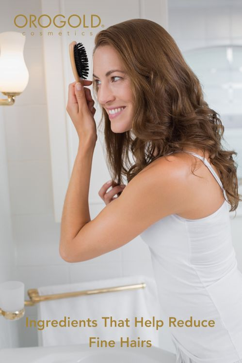 OROGOLD examines ingredients that could help reduce fine hairs.