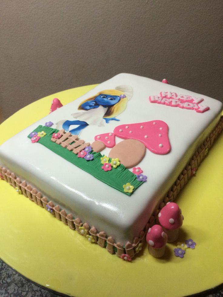 Smurfette cake for Cassandra