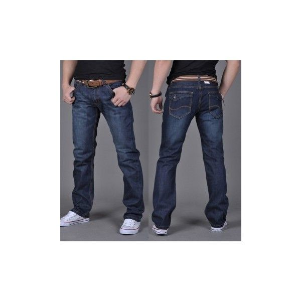 Men's Denim Fabric Jeans Mid-Rise Casual Slim Skinny Straight Jeans ($15) ❤ liked on Polyvore featuring men's fashion, men's clothing, men's jeans, dark blue, jeans, mens waxed denim skinny jeans, mens slim cut jeans, mens slim fit jeans, mens slim straight jeans and mens slim jeans