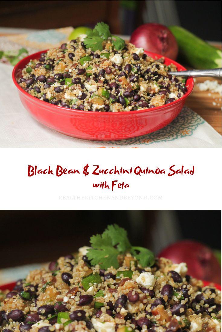 Black Bean and Zucchini Quinoa Salad