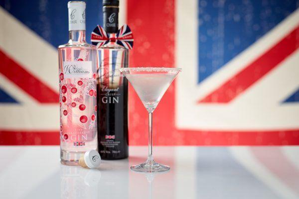 British martini with pink grapefruit gin