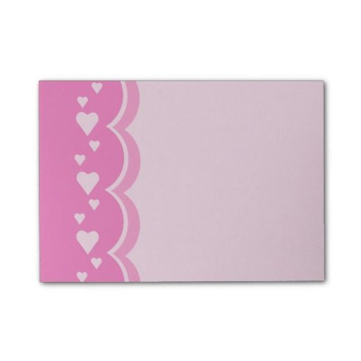 Pink Hearts Post-it® Notes #pink #hearts #valentine #love #valentinesday