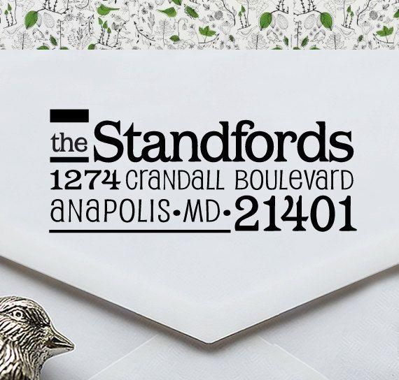 Custom Address Stamp - Eco Friendly, gifts for wedding, housewarming, etsy labels, return address stamp - ea1074. $19.95, via Etsy.