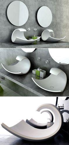 Cubas incríveis para banheiros modernos. Foto: reprodução LDVC