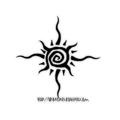 tatuagem sol tribal | Tribal Sun Tattoo Model | Tattoobite.com