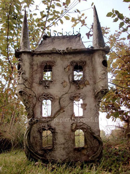 Victorian style fairy house fairy garden ideas miniature doll house Maison de poupée/ doll house