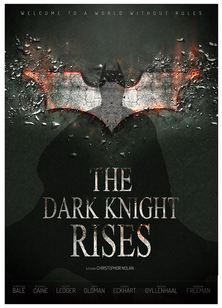 BATMAN - THE DARK NIGHT RISES - poster created by Manon Ghiurco