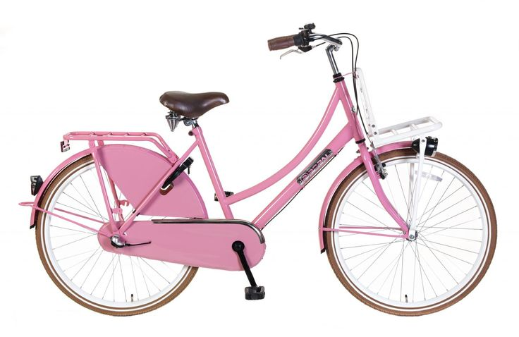 Bicicleta holandesa Daily Dutch Basic + 26 Rosa