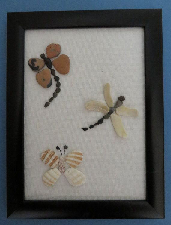 Insects    Pebble Art Canvas by ShoreThingsNE on Etsy