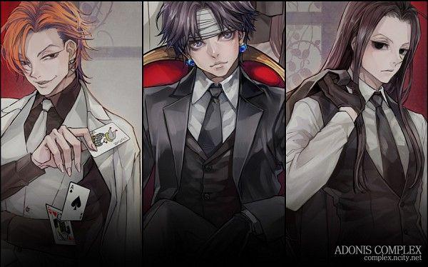 Hunter x Hunter~~Hisoka, Chrollo, and Illumi. I don't like Illumi, but I can't bring myself to dislike the other two