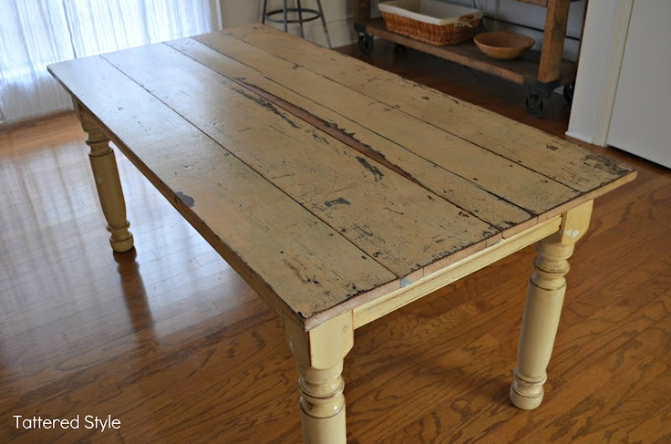 Farm table plans google search farm table pinterest for Yellow farmhouse table