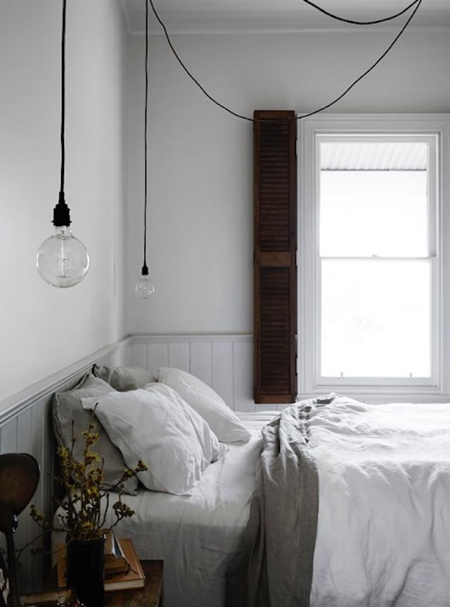 Bedroom in a dreamy holiday home in a former miner's cottage / Vintage House Daylesford. Photo Sharyn Cairns. Interior: Kali Cavanag.