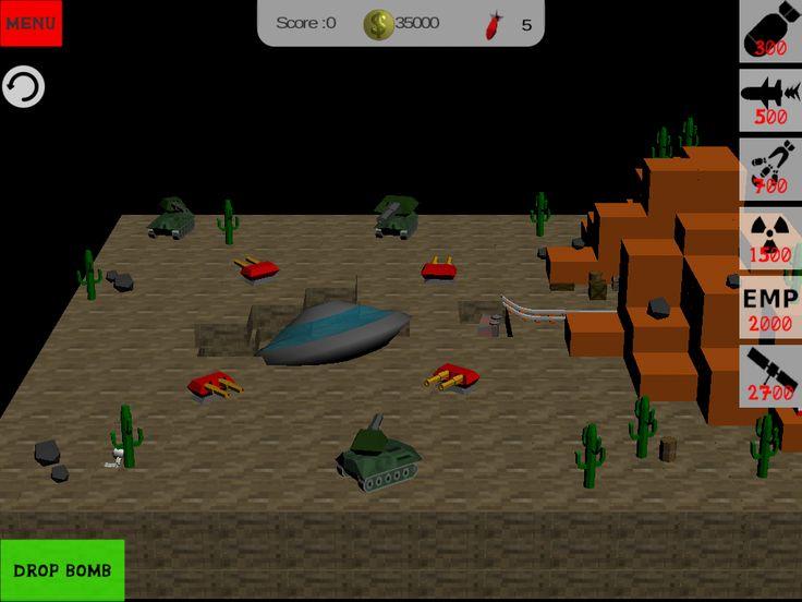 Blocky bomb apocalypse #android #roswell #u.f.o. #alien #blocky #minecraft #destruction #unity3d #game #ufo