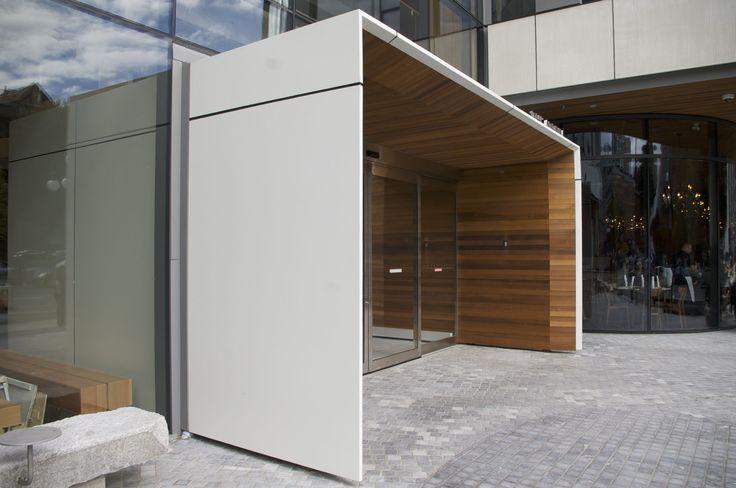White uhpc ductal vestibule entrance cast by szolyd.com