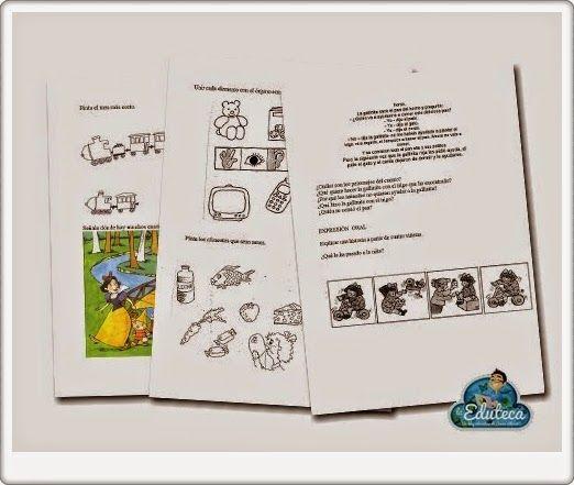 Pruebas de Evaluación Inicial para Educación Infantil de 5 años en Comunicación Lingüística, Matemáticas y Conocimiento del entorno, elaboradas por laeduteca.blogspot.com.es.