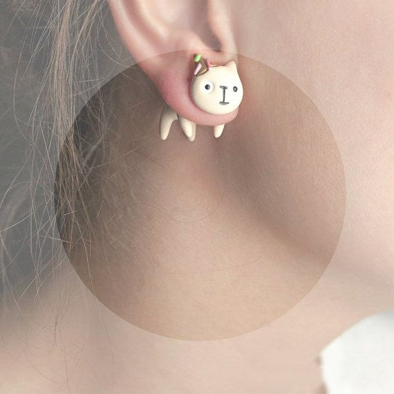 The best earrings combine donuts and cats.