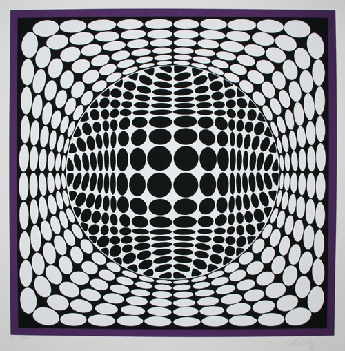 Opt art: optical art, playing tricks with human eyes, made by victor vasarely, Shapes and repetition make this art.