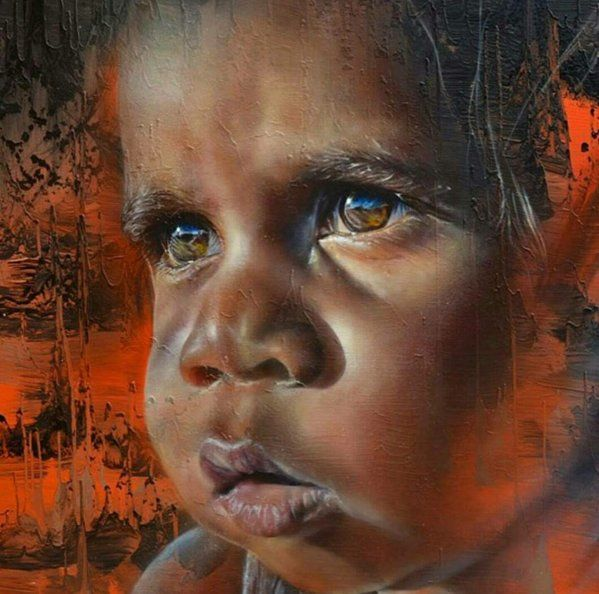 Painting by Matt Adnate called The Eyes.