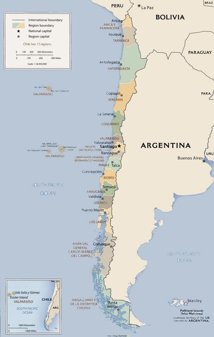 Best Mapa Politico De Chile Ideas On Pinterest America Mapa - Argentina political map 1996
