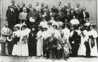 "1905 | THE NIAGRA MOVEMENT was a CIVIL RIGHTS ORGANIZATION led by W. E. B. Du Bois and William Monroe Trotter. It was named for the ""mighty current"" of change the group wanted to effect and Niagara Falls, the Canadian side of which was where the first meeting took place in July, 1905. The Niagara Movement was a call for opposition to racial segregation and disenfranchisement, and it was opposed to policies of accommodation and conciliation promoted by African American leaders."