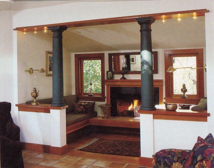 Entrance And Living Room Half Walls