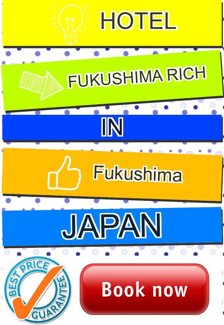 Hotel Fukushima Rich in Fukushima, Japan. For more information, photos, reviews and best prices please follow the link. #Japan #Fukushima #travel #vacation #hotel