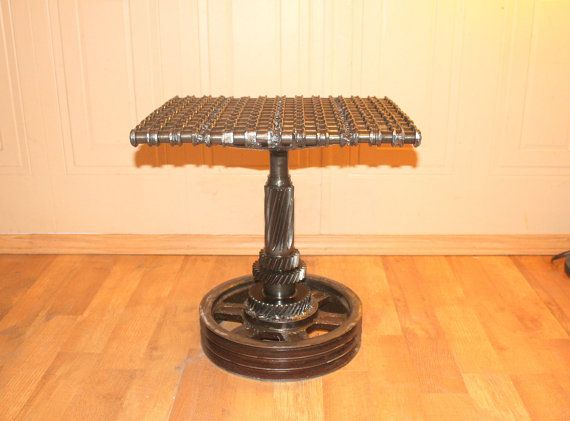 Car part furniture made from car parts gears by Custom furniture made car parts