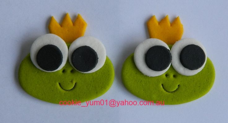 12 edible CUTE BABY FROGS prince cupcake cake topper decorations anniversary birthday baby shower christening school sea amphibian by cookiecookieyumyum on Etsy