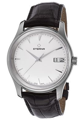 81% Off Eterna Men's Vaughn Automatic Black Genuine Alligator White Dial Watch