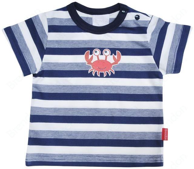 Brendon tričko Ashton Striped-Crab  Размер 80 за догодина като е към 10 месеца