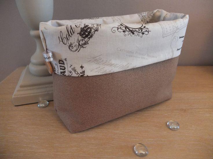 Pochette, vide poche, corbeille, panière en feutrine et tissu de la boutique MaBonneEtoileFrance sur Etsy