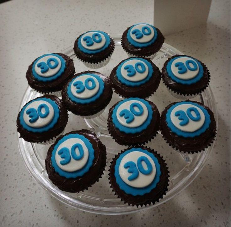 30th birthday cupcakes.