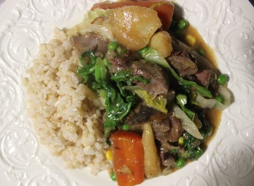 Rich Flavoured Beef Shin and Vegetables
