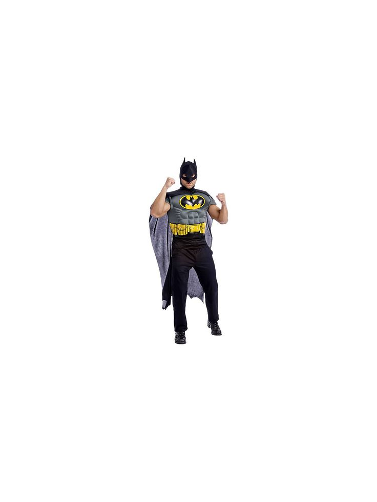 Men's Batman Adult Muscle Chest Top Costume | Mens Batman Halloween Costumes