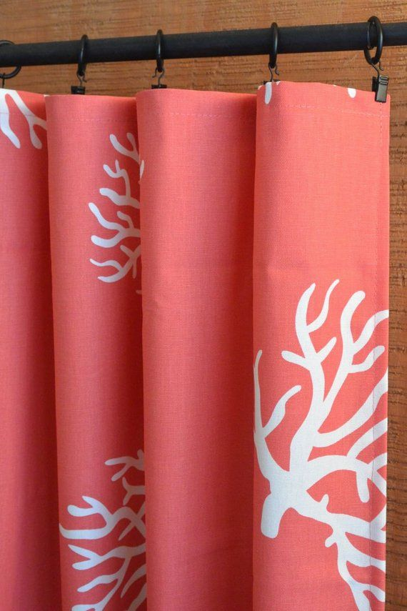 living room curtains for sale showpiece coral curtain beach house nursery baby decor pa