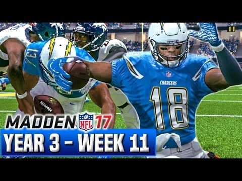 Madden 17 Chargers Franchise Mode Year 3 - Week 11 vs Broncos | Ep.58