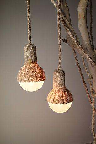 lampjes breien; knitting lights