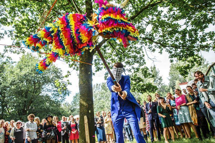 piñata wedding bruiloft camping de lievelinge
