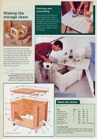 #1700 Kids Bedroom Furniture Plans - Children's Furniture Plans