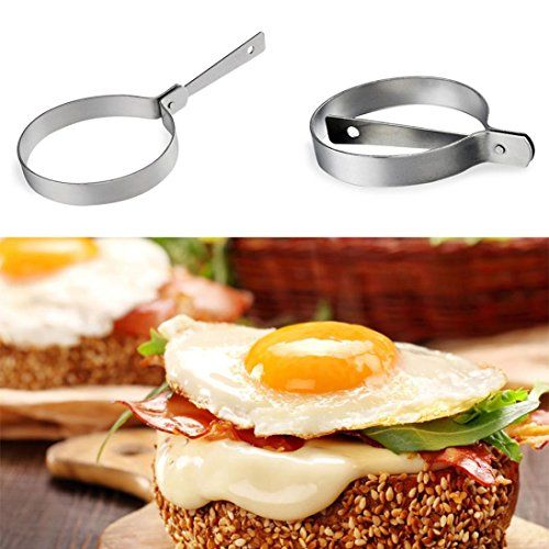 Cooking Tools for Kitchen Sikye Stainless Steel Fried Egg Shaper Pancake Ring